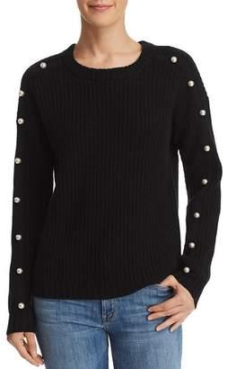 Aqua Embellished Shaker Stitch Cashmere Sweater - 100% Exclusive