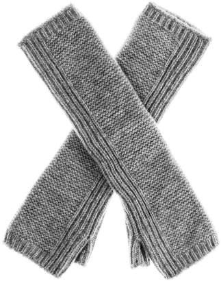 Black Long Grey Cashmere Wrist Warmers
