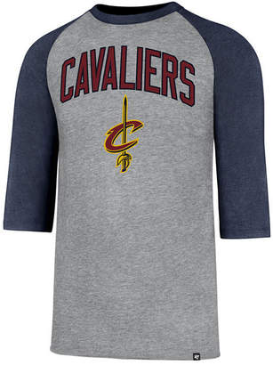 '47 Men Cleveland Cavaliers Zone Raglan Three-Quarter Sleeve T-Shirt