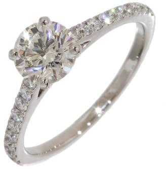 De Beers Platinum with Diamond Ring Size 5
