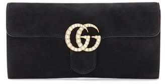 GG Marmont suede clutch