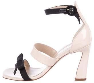 Stuart Weitzman Patent Leather Ankle Strap Sandals w/ Tags