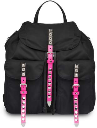 Prada stud embellished backpack