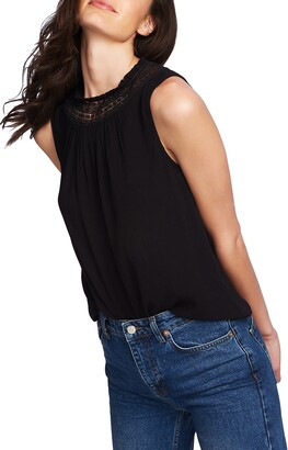 1 STATE 1.STATE Lace Detail Sleeveless Blouse