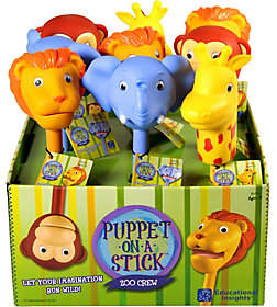 Educational Insights Puppet-on-a-Stick Zoo Crew