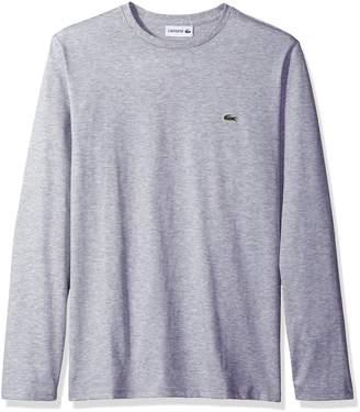 Lacoste Men's Long Sleeve Jersey Pima Regular Fit Crewneck T-Shirt, TH6712-51