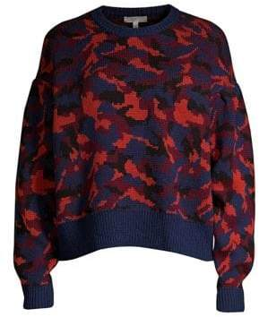 Joie Brycen Camo Wool Sweater