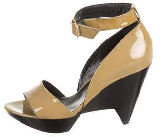 Robert Clergerie Patent Leather Ankle Strap Sandals
