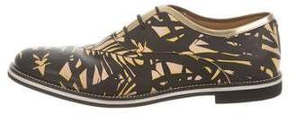 Sergio Rossi Printed Lace-Up Oxfords