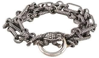 Kieselstein-Cord Frog Toggle Multistrand Bracelet