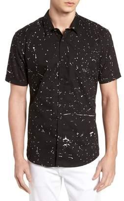 7 Diamonds Sky Walker Splatter Sport Shirt