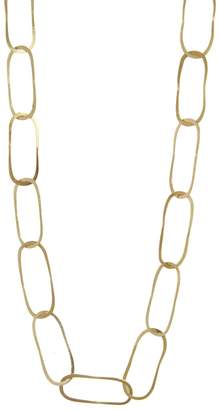 Melissa Joy Manning Full Flat Oval Link Necklace - Yellow Gold