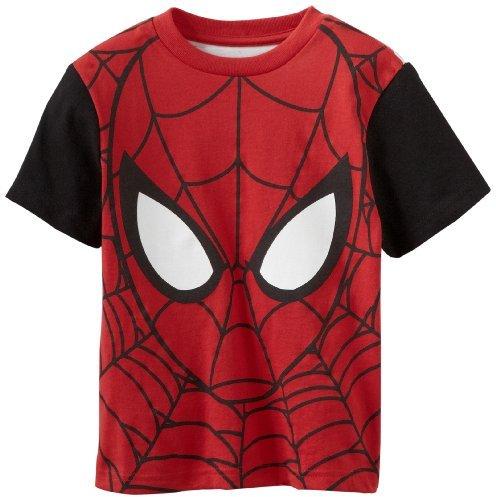Marvel Spiderman Boys 4-7 Short-Sleeve F/B Color Block Tee