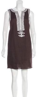 MICHAEL Michael Kors Linen Embroidered Dress