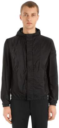 Prada Hooded Nylon Piuma Casual Jacket