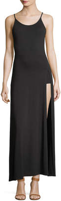 Haute Hippie The Slayer Scoop-Neck Sleeveless High-Slit Dress