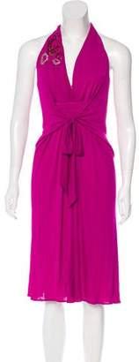 Blumarine Sleeveless Embellished Dress w/ Tags