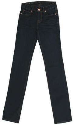 J Brand Mid-Rise Straight-Leg Jeans w/ Tags