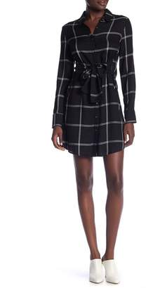 Romeo & Juliet Couture Plaid Long Sleeve Tunic