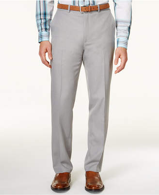 Alfani Flat-Front Slim-fit Herringbone Wrinkle-Resistant Pants