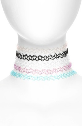 Women's Bp. 5-Pack Tattoo Chokers $25 thestylecure.com