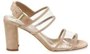 Manolo Blahnik Khanc Block Heel Leather Sandals