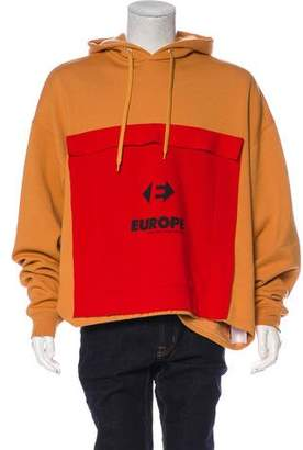 Balenciaga 2018 Oversize Europe Pullover Hoodie w/ Tags