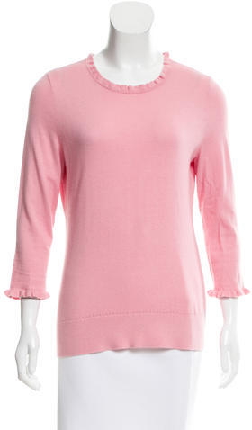 Kate Spade New York Ruffle-Trimmed Crew Neck Sweater