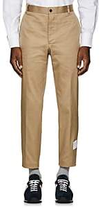 Thom Browne Men's Striped Cotton Chinos - Beige, Tan