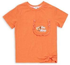 Flapdoodles Little Girl's Stretch Crewneck Tee