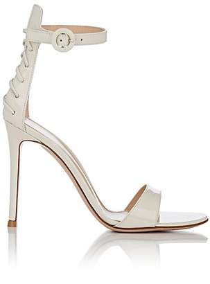 Gianvito Rossi Women's Patent Leather Ankle-Strap Sandals - White