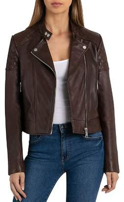 BAGATELLE.NYC Quilted Leather Moto Jacket