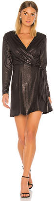 BCBGeneration Metallic Wrap Dress