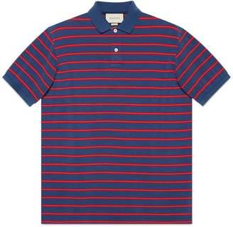 Gucci Striped cotton polo
