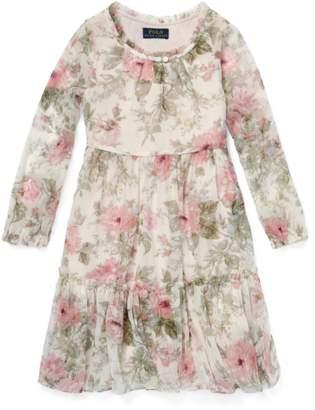 Ralph Lauren Kids Floral Tiered Chiffon Dress