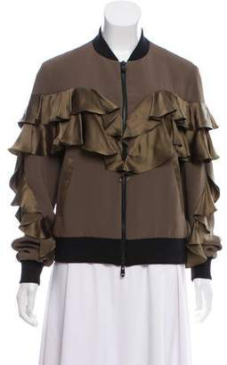 Cinq à Sept Ruffled Bomber Jacket