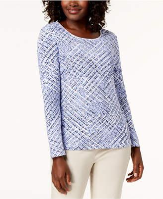 Karen Scott Printed Scoop-Neck T-Shirt, Created for Macy's