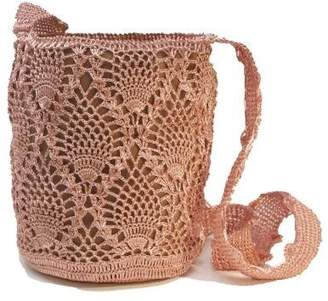 Cooperativa Shop Verdi Design Rose Gold Crochet Bucket Bag
