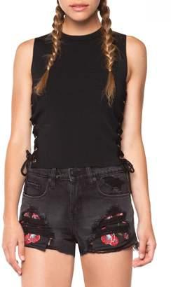 Dex Embroidered Pockets Short