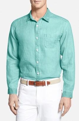 Men's Big & Tall Tommy Bahama 'Sea Glass Breezer' Linen Sport Shirt $118 thestylecure.com