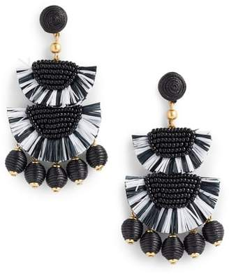 J.Crew Bead & Raffia Earrings