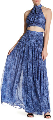 MAJORELLE Taos Print Wrap Maxi Skirt $310 thestylecure.com