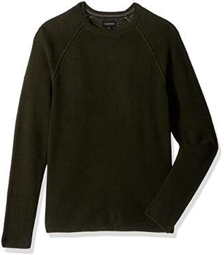 Lucky Brand Men's Colorado Cross-Stitch Crew Sweater