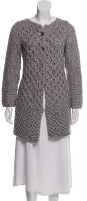 Allude Mohair & Merino Wool-Blend Heavyweight Cardigan