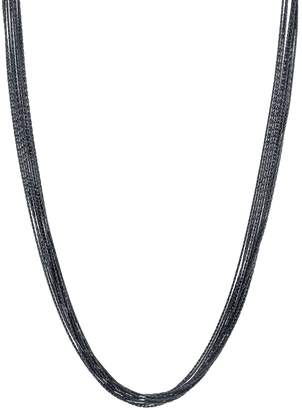 Velvet by Graham & Spencer BLACK RHODIUM NECKLACE BY SLOAN