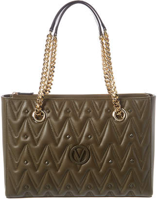Mario Valentino Valentino By Floralie D Sauvage Studs Leather Tote