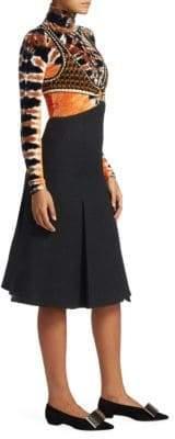 Proenza Schouler Crochet Boucle Suiting Dress