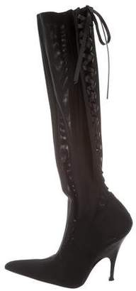 Gianfranco Ferre Pointed-Toe Knee-High Boots