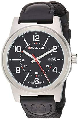 Wenger Men's 'Field Gear' Swiss Quartz Stainless Steel and Nylon Casual Watch
