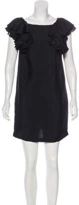 See by Chloe Sleeveless Silk-Blend Dress